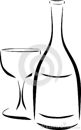 Abstract Wine Bottle Royalty Free Stock Photography.