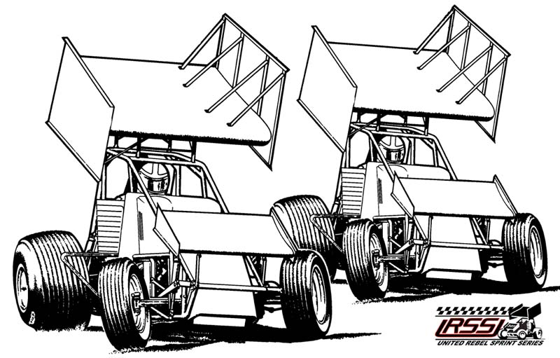 Wingless sprint car clipart.