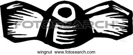 Clip Art of Wingnut wingnut.