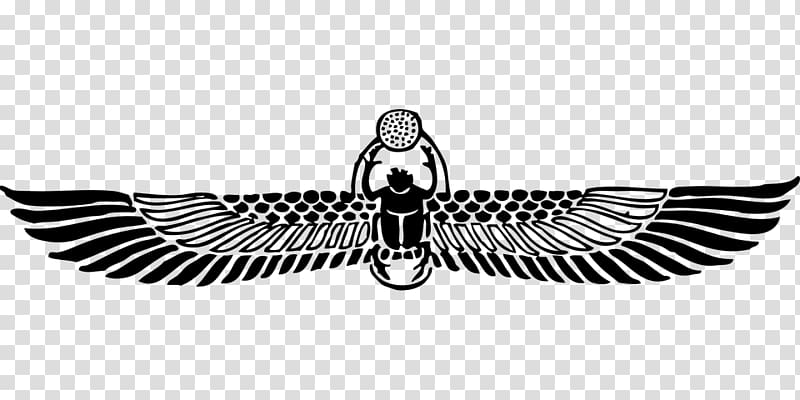 Ancient Egypt Scarab Winged sun , others transparent.