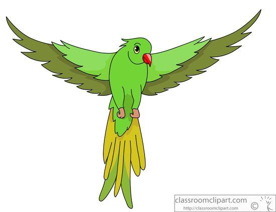 Bird Clipart : green.