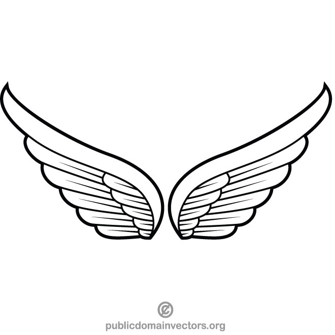 Wings clip art vector graphics.