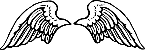 Peterm Angel Wings clip art Free vector in Open office drawing svg.