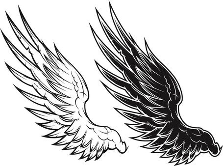 Free Black And White Vector Wings Black And White Vector Wings.