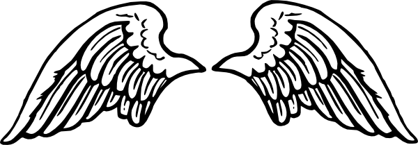 White Angel Wings Clipart.