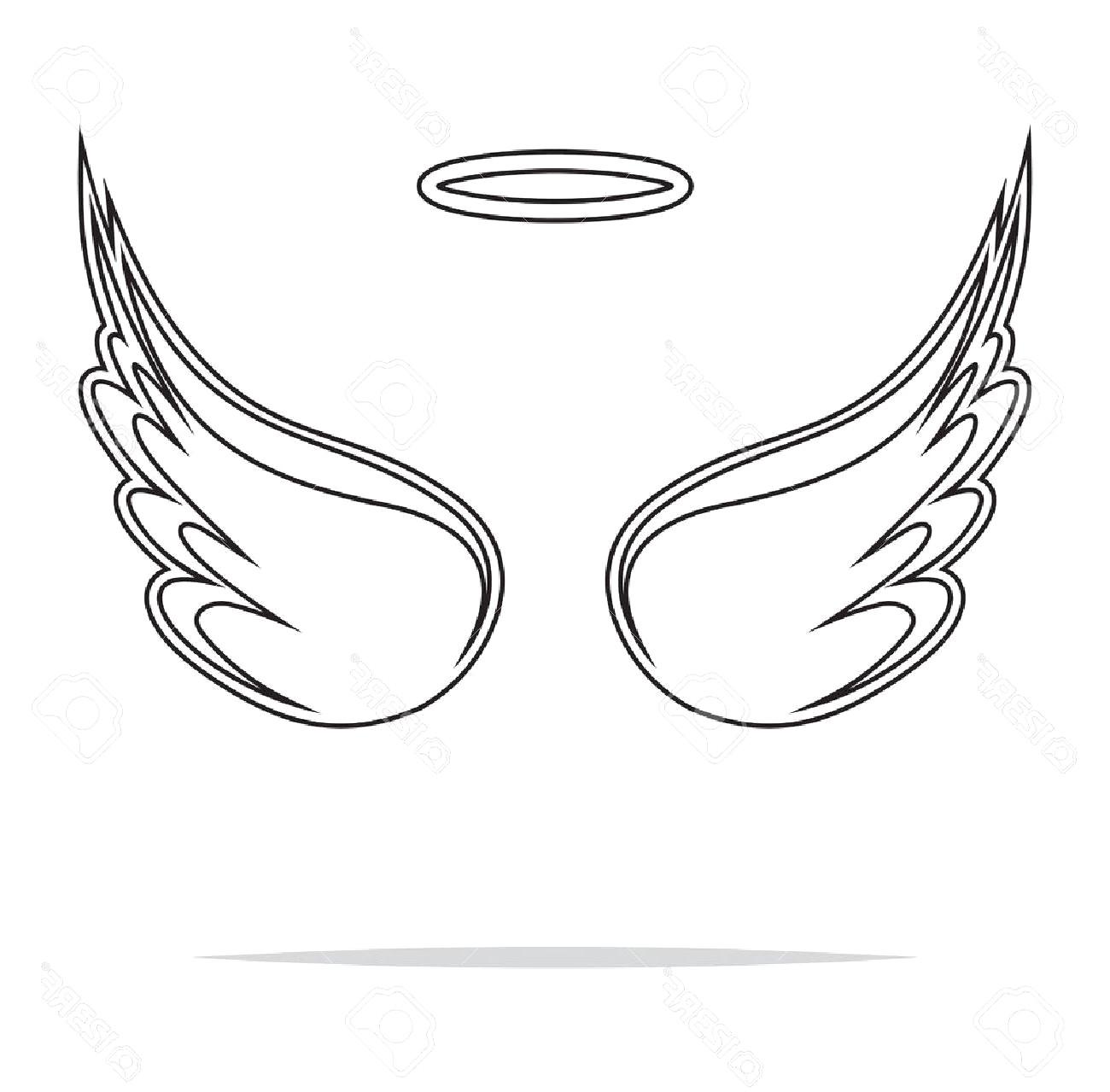 Wings clipart black and white » Clipart Station.