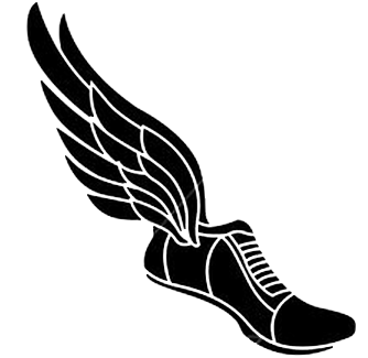 Track Spikes With Wings Clipart.