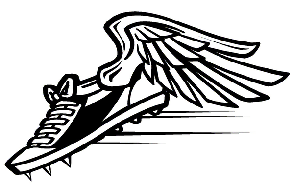 Track and field clipart shoe.