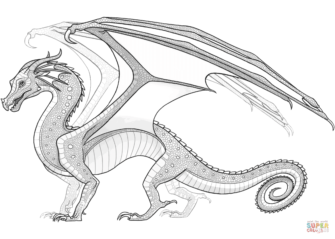 Dragon Coloring Pages Wings Of Fire.