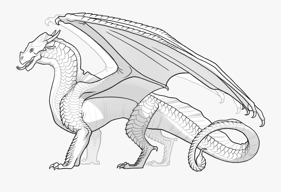 Wings Of Fire Rainwing Coloring Pages.