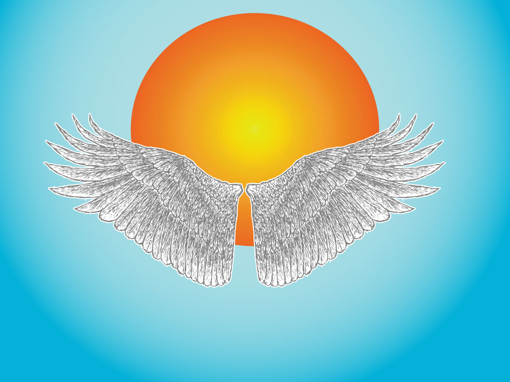 Icarus Wings Vector.