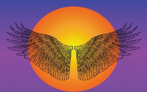 Icarus Wings Free vector in Adobe Illustrator ai ( .ai.