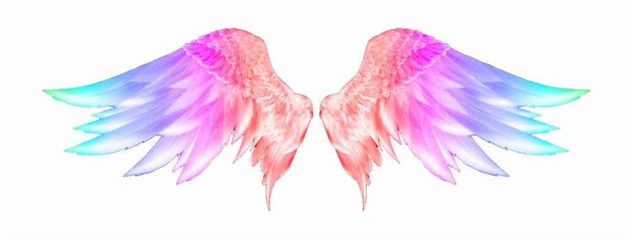 Colorful Angel Wings Tattoo , Png Download.