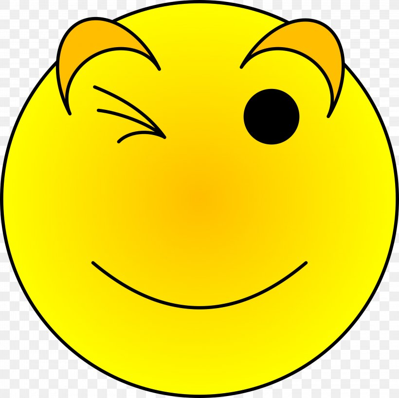 Wink Smiley Cartoon Clip Art, PNG, 3200x3200px, Wink.