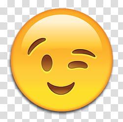 Emoji, wink emoji illustration transparent background PNG.
