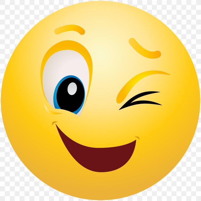 Emoticon Smiley Wink Emoji Clip Art, PNG, 2000x2000px.