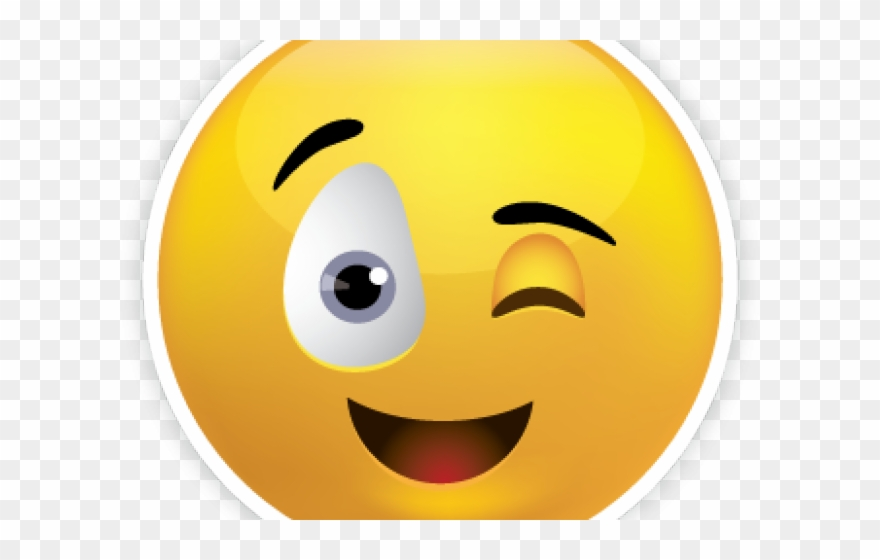 Emoji Face Clipart Winky.