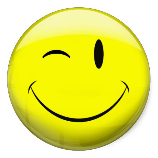 Clipart smiley face wink.