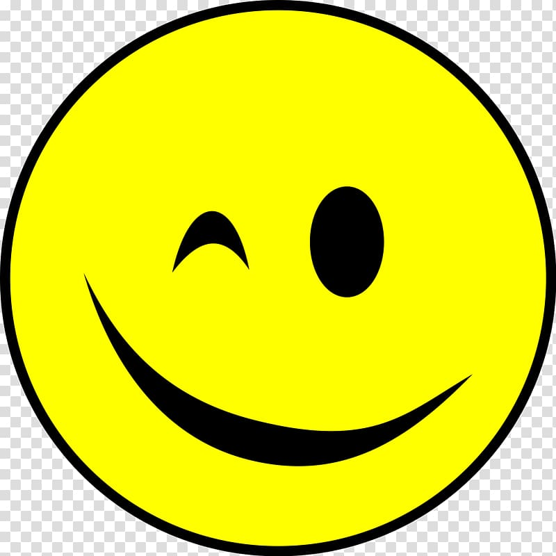 Smiley Wink Emoticon, smiley transparent background PNG.