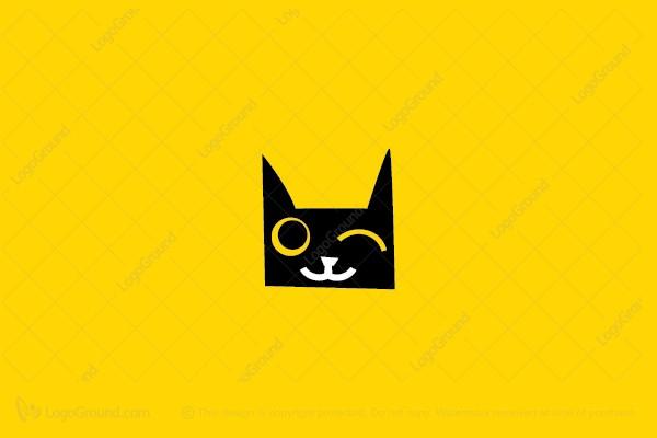 Exclusive Logo 44704, Wink Cat Logo.