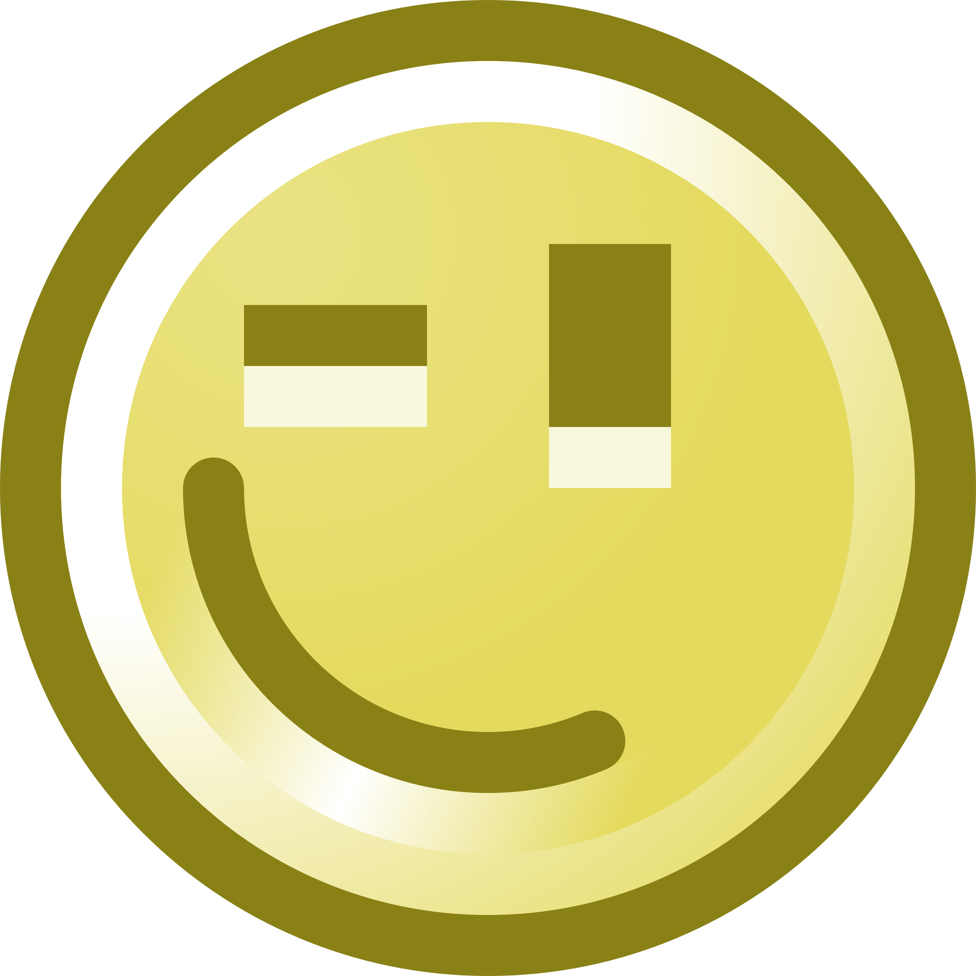 Winking Smiley Face Clip Art Illustration.