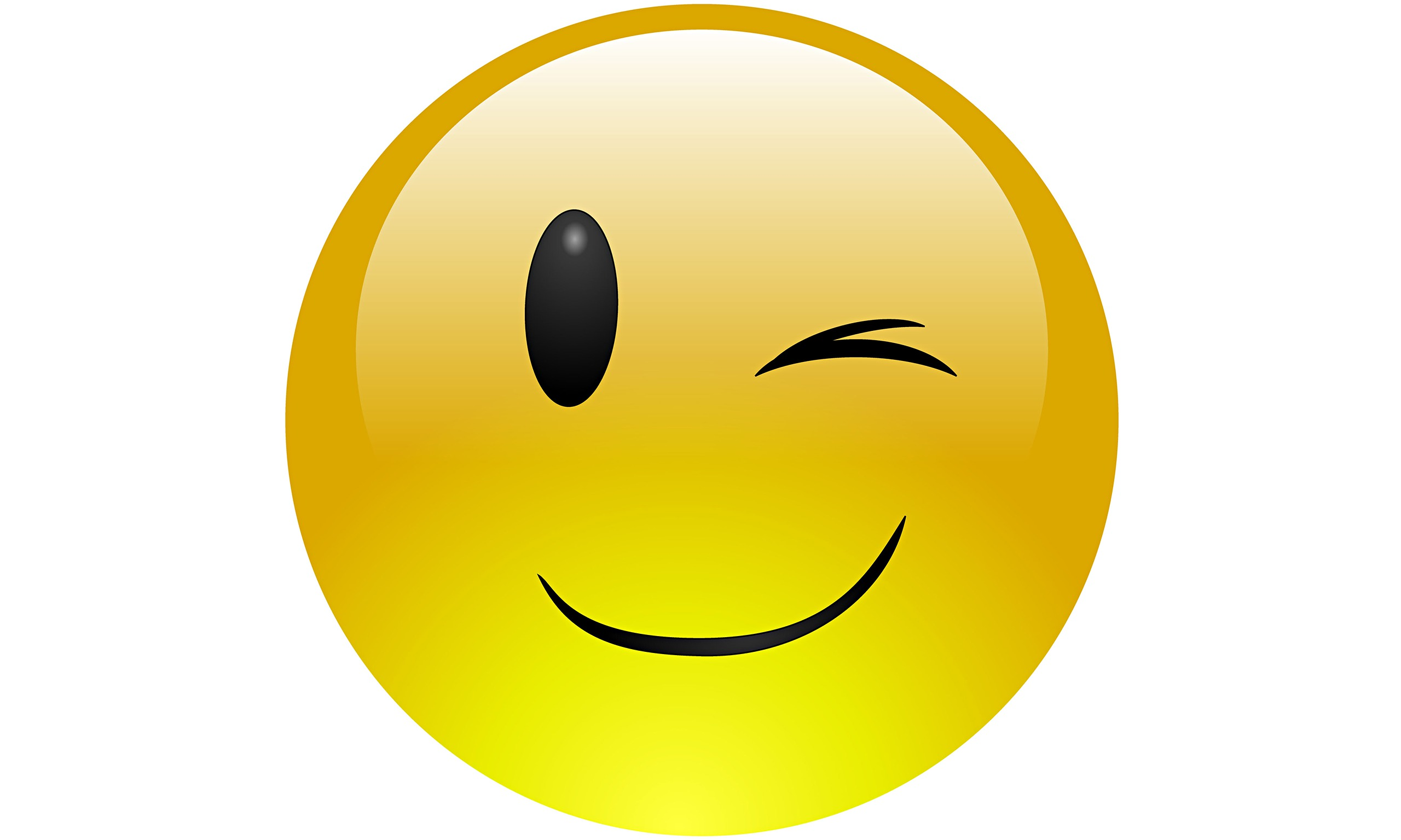Clipart Winking Face.