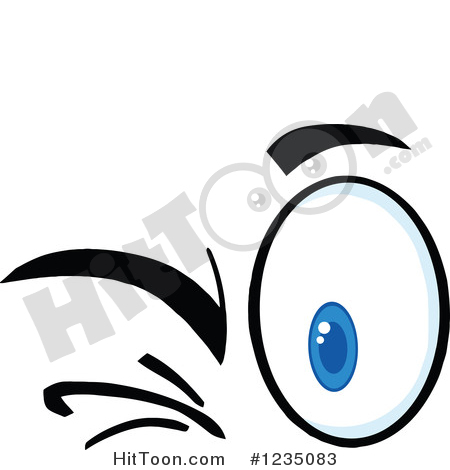 Eyes Clipart #1235083: Pair of Winking Eyes by Hit Toon.