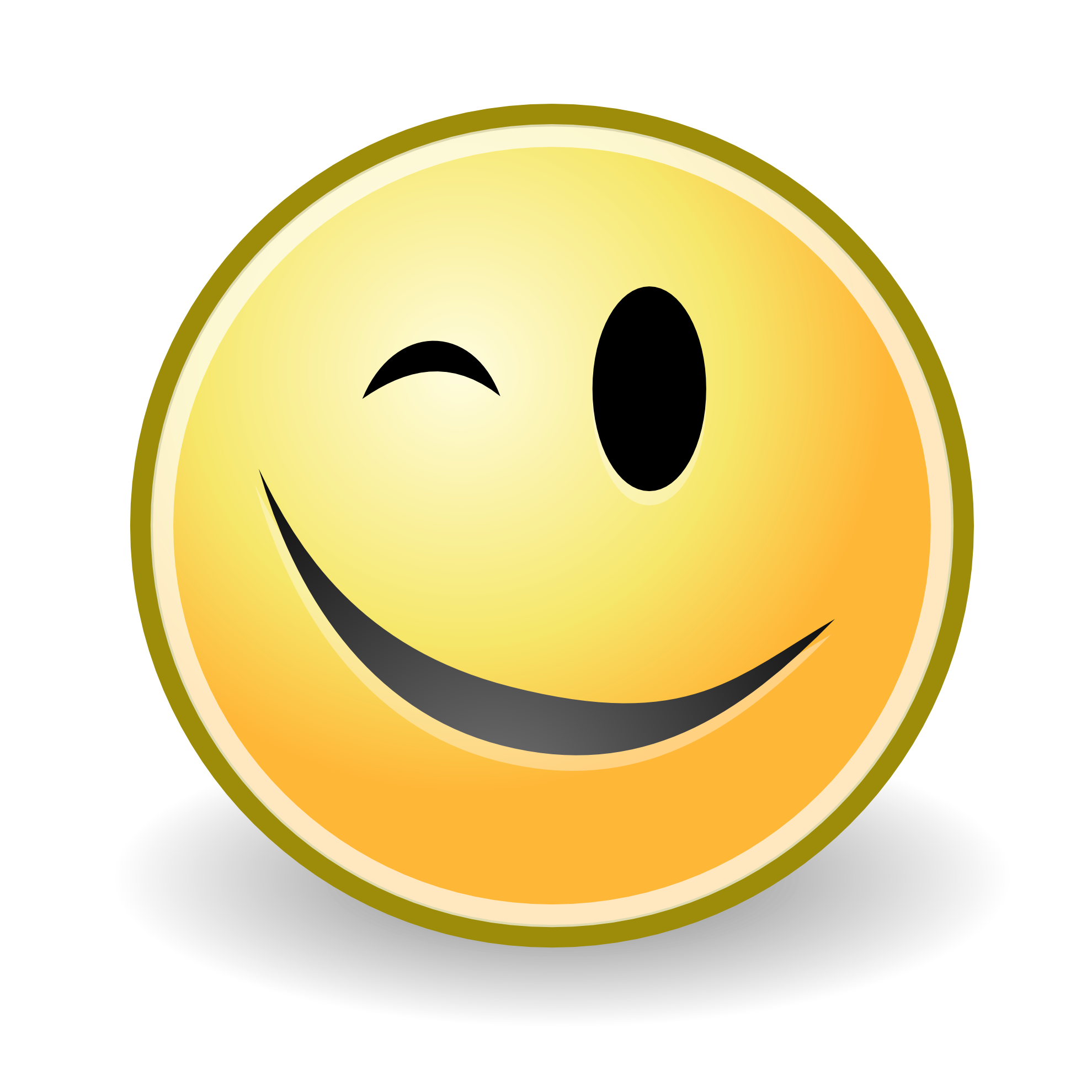 Winking Smiley Face Clip Art N30 free image.