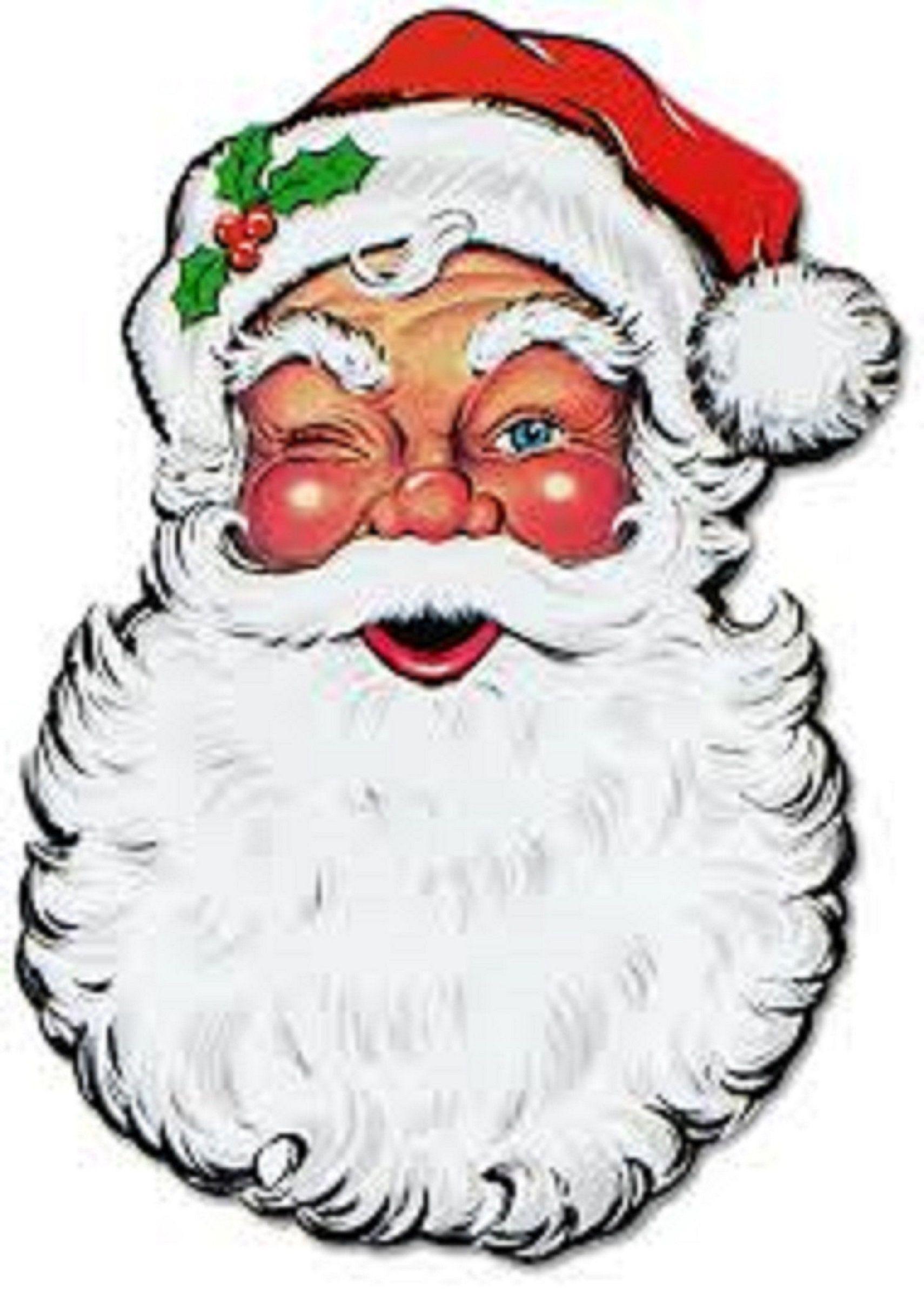 Winking Santa Claus Counted Cross Stitch Pattern Christmas.