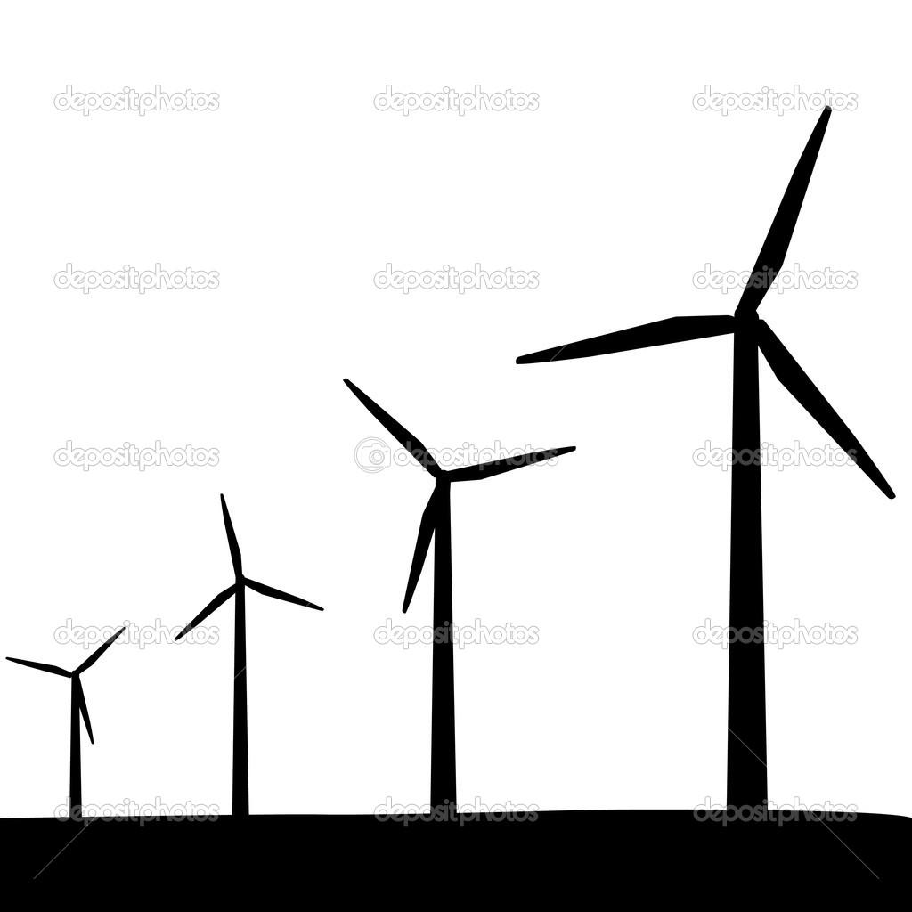 Windkraftanlagen — Stockvektor © smarques27 #10017430.