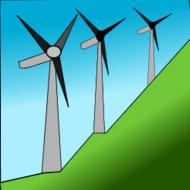 Windkraftanlage.