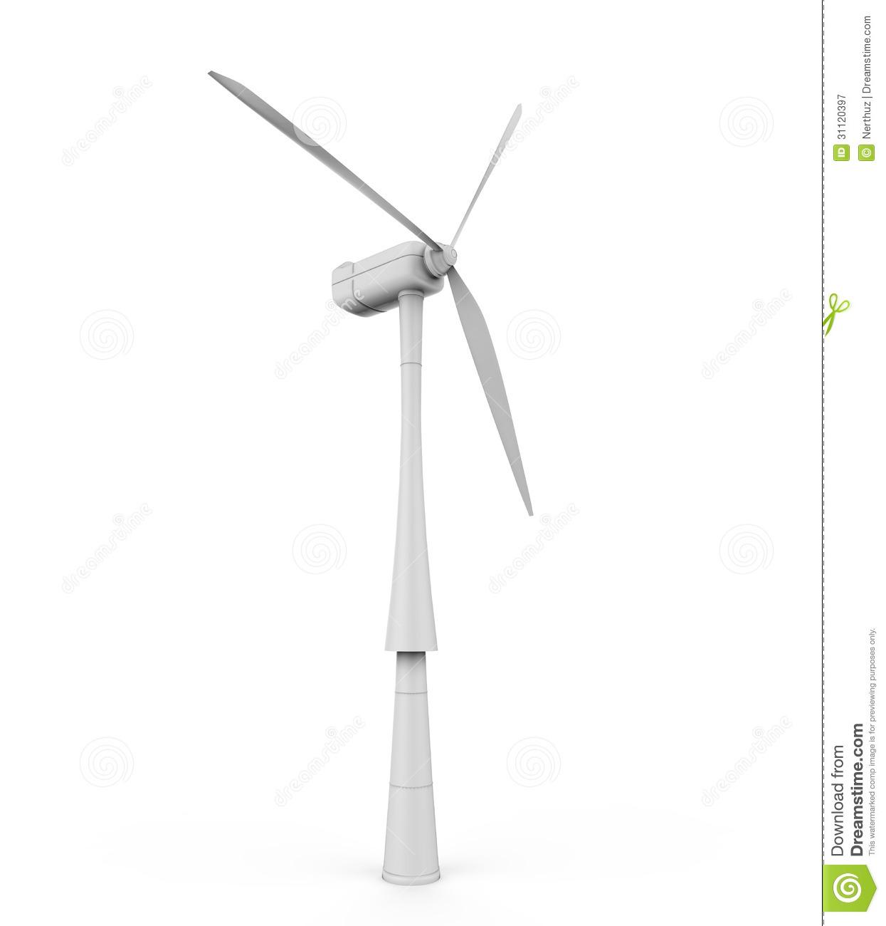 Windturbine Stock Illustrations.