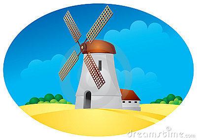 Windmühle, Tausendstel, Ernte Lizenzfreies Stockbild.