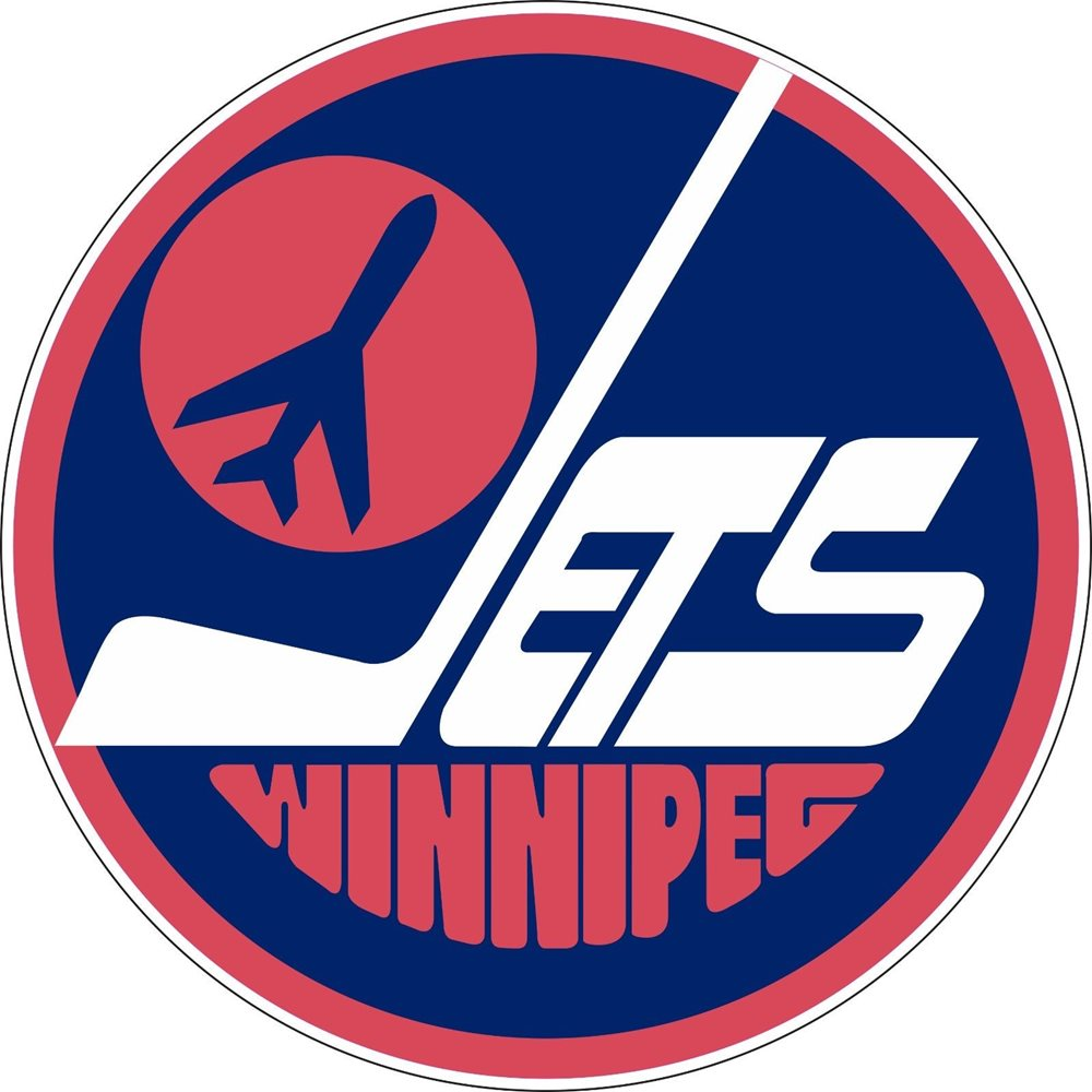 Retro Winnipeg Jets NHL Hockey sticker wall decor Large vinyl decal, 9.5\