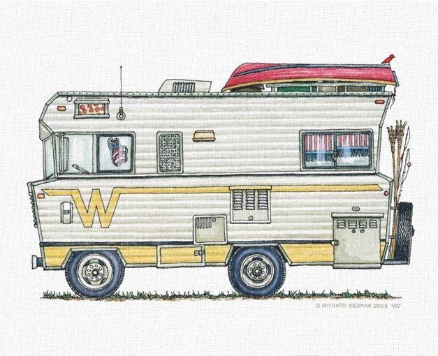Whimsical Winnebago Camper RV.