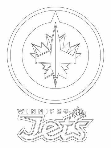 Winnipeg Jets Logo coloring page from NHL category. Select.