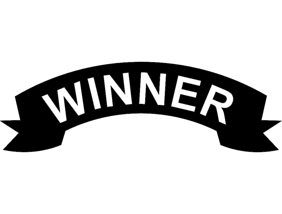 Winner banner dxf File Free Download.