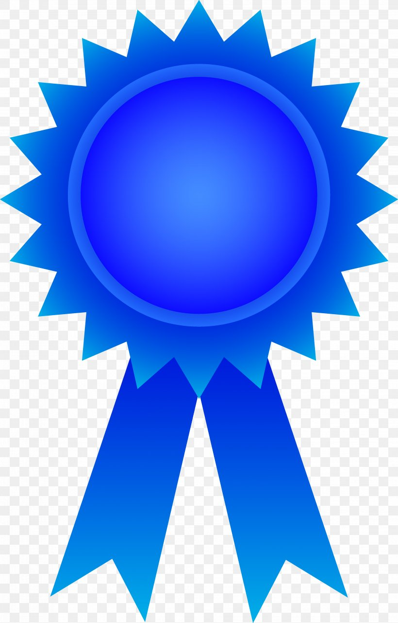 Blue Clip Art, PNG, 3717x5809px, Ribbon, Award, Blue, Blue.