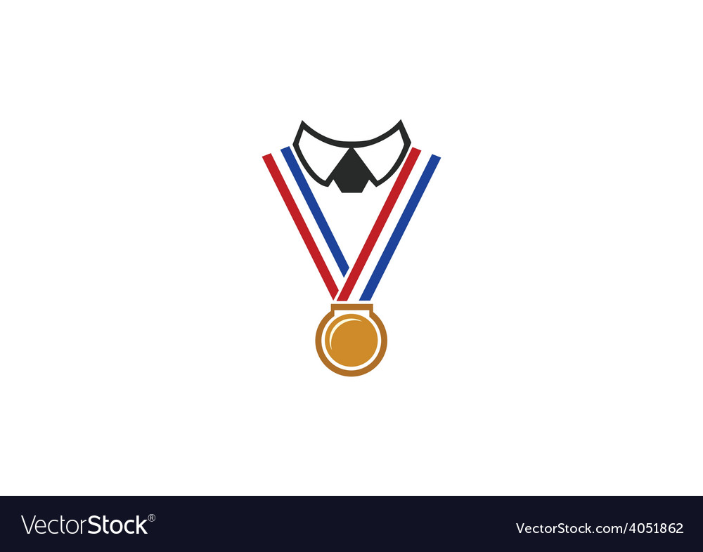 Champion winner medal people logo.