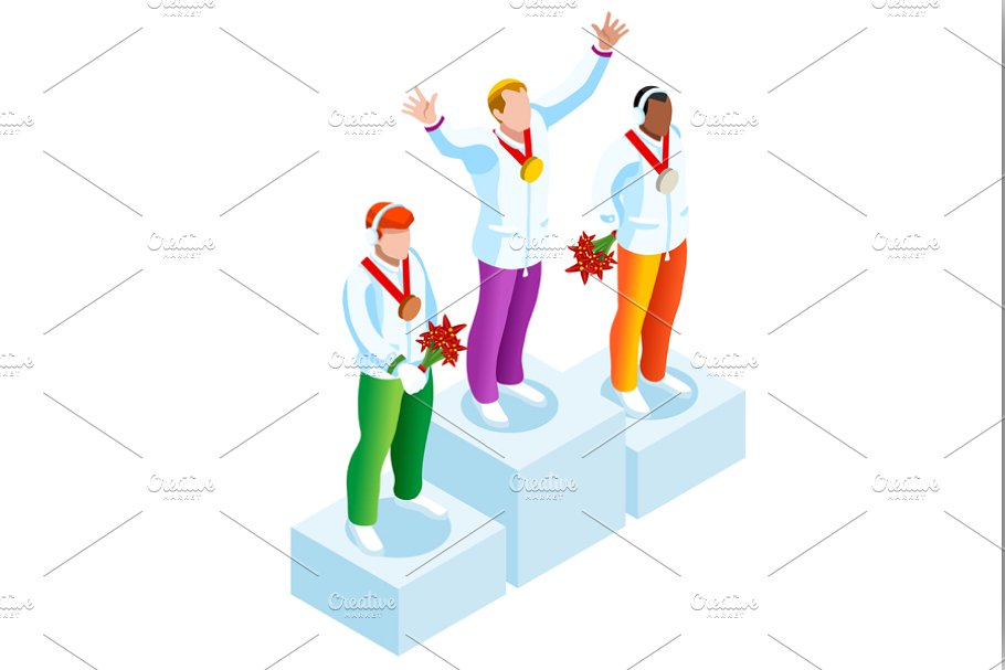 Winner Podium Clipart Winter Sports.