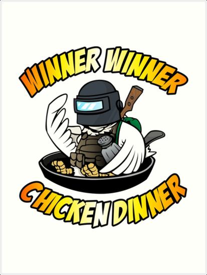 \'Winner Winner Chicken Dinner\' Art Print by Dolores C Hoy.