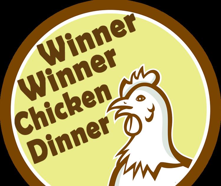 Winner Winner Chicken Dinner Pubg Logo Vector.