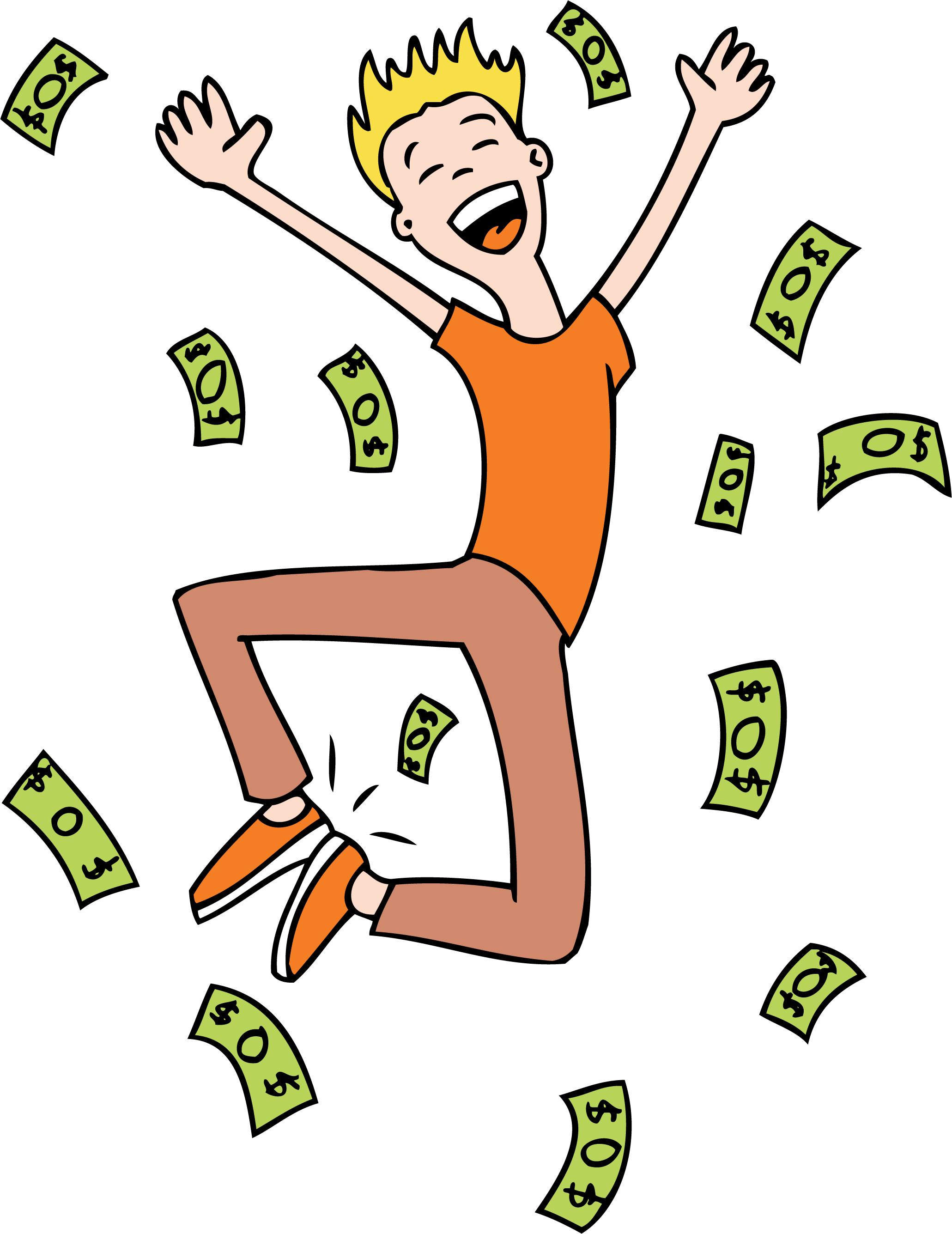 Lottery winners clipart.