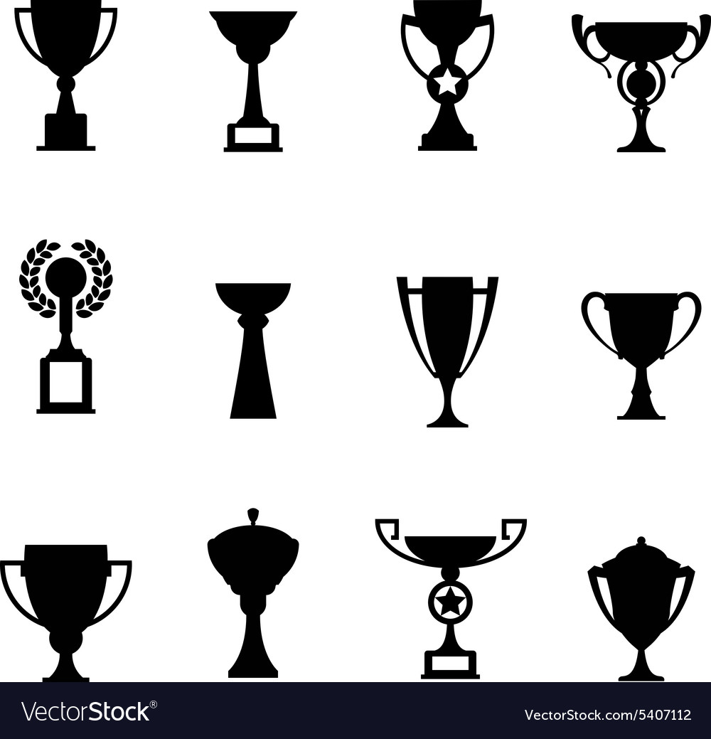 Trophy icons Winner cup.