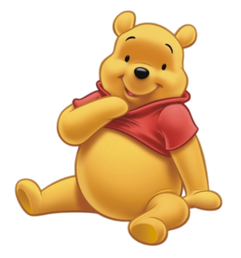 Winnie the Pooh Sitting transparent PNG.