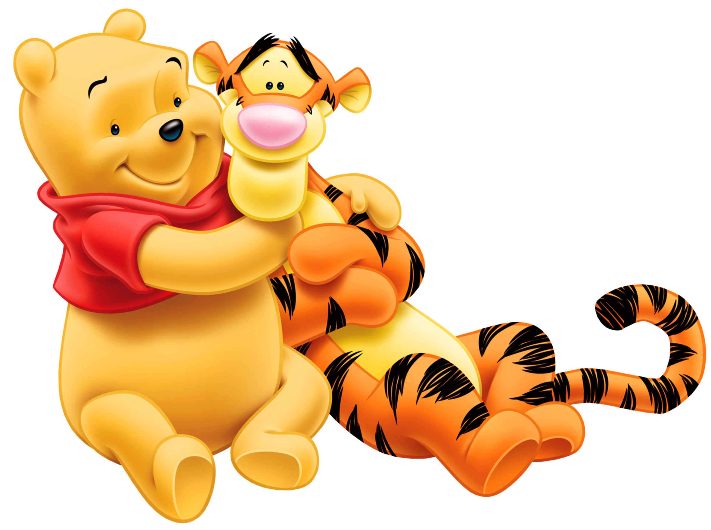 Transparent Tigger and Winnie the Pooh PNG Cartoon.