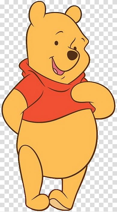Winnie the Pooh poses transparent background PNG clipart.