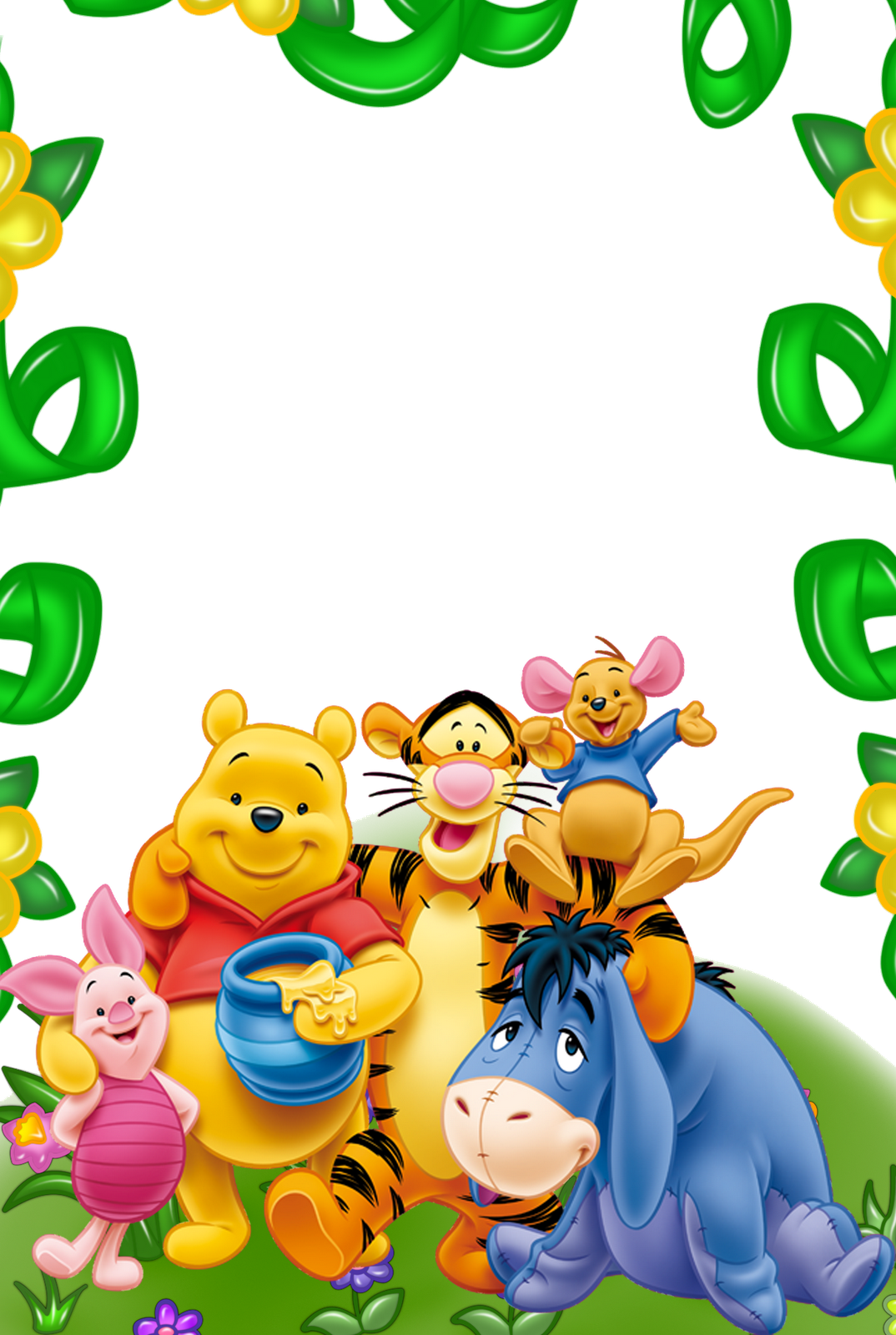 Winnie the Pooh and Friends Kids Transparent Frame.