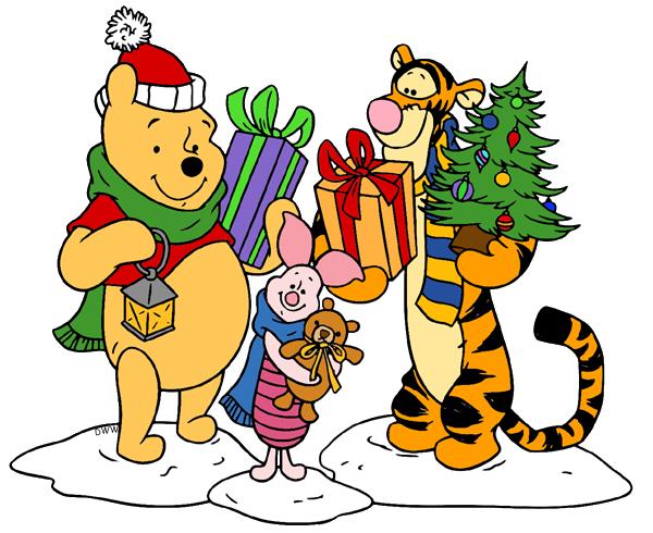 Winnie the Pooh Christmas Clip Art.