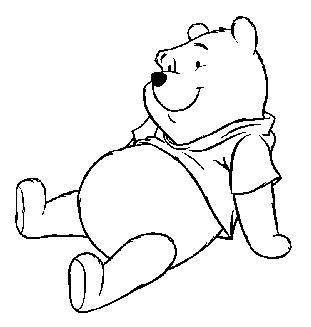 Winnie the pooh clipart black and white 1 » Clipart Portal.